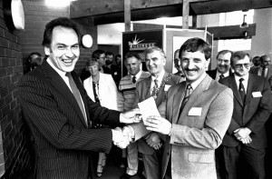 Then MP Jack Cunningham opened Cleator Moor Workspace back in May 1985 . pic Whitehaven News jack 2.jpg50079689W001.jpg